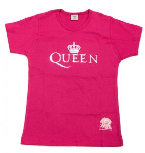 Queen - Crown - Pink Ladies Fitted T-Shirt